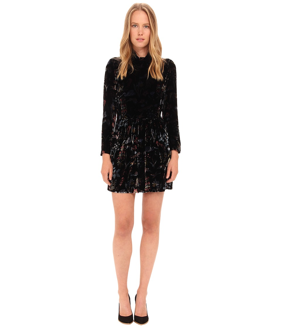 EMMA COOK - Velvet Penny Dress (Black Woodland) Women's Dress