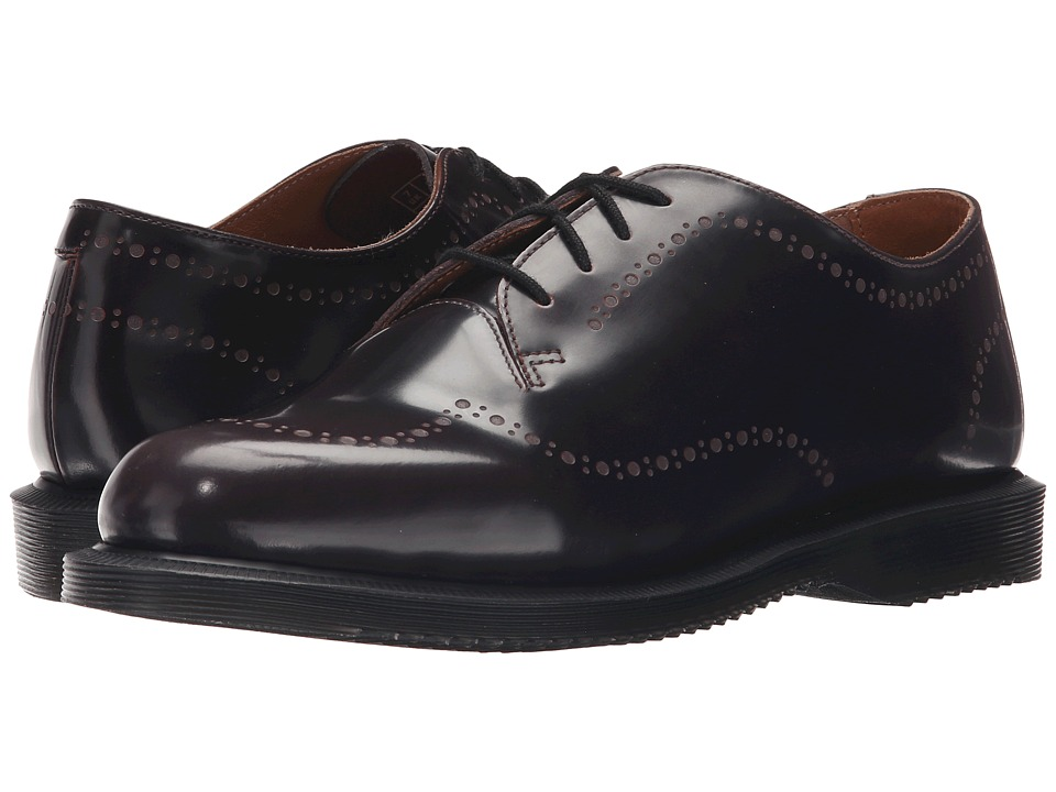 Dr. Martens - Charlotte Etched Brogue Shoe (Cherry Red Arcadia) Women's Lace up casual Shoes