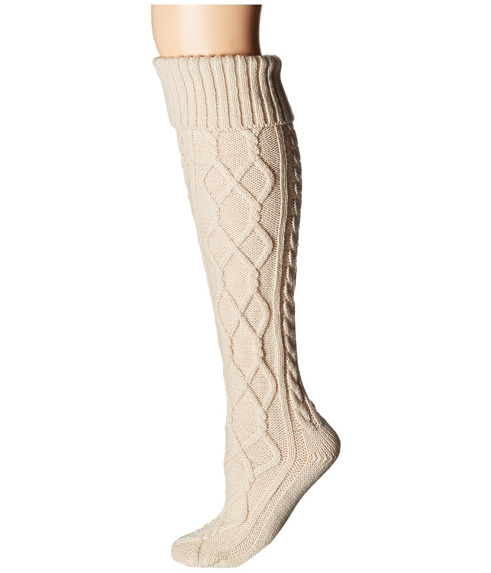 Free People - Cozy Cable OTK Sock (Ivory) Women's No Show Socks Shoes