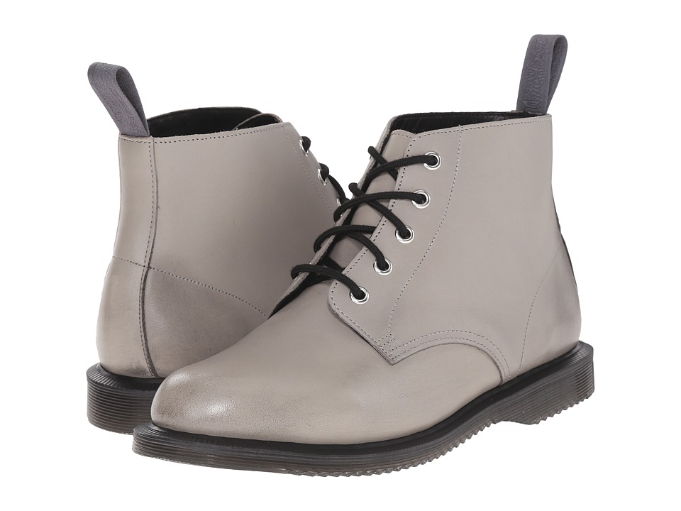 Dr. Martens - Emmeline 5-Eye Boot (Grey Burnished Servo Lux) Women's Lace-up Boots