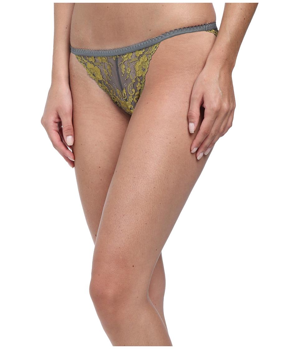 Free People - Caught in My Web String Bikini (Gunmetal Chartreuse Combo) Women's Underwear