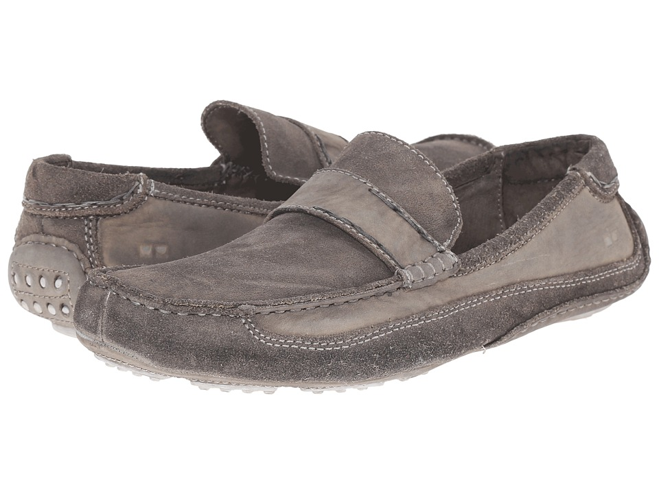 Bed Stu - Tejon Pass (Grey Garment Dyed Crust Suede Leather) Men's Slip on Shoes