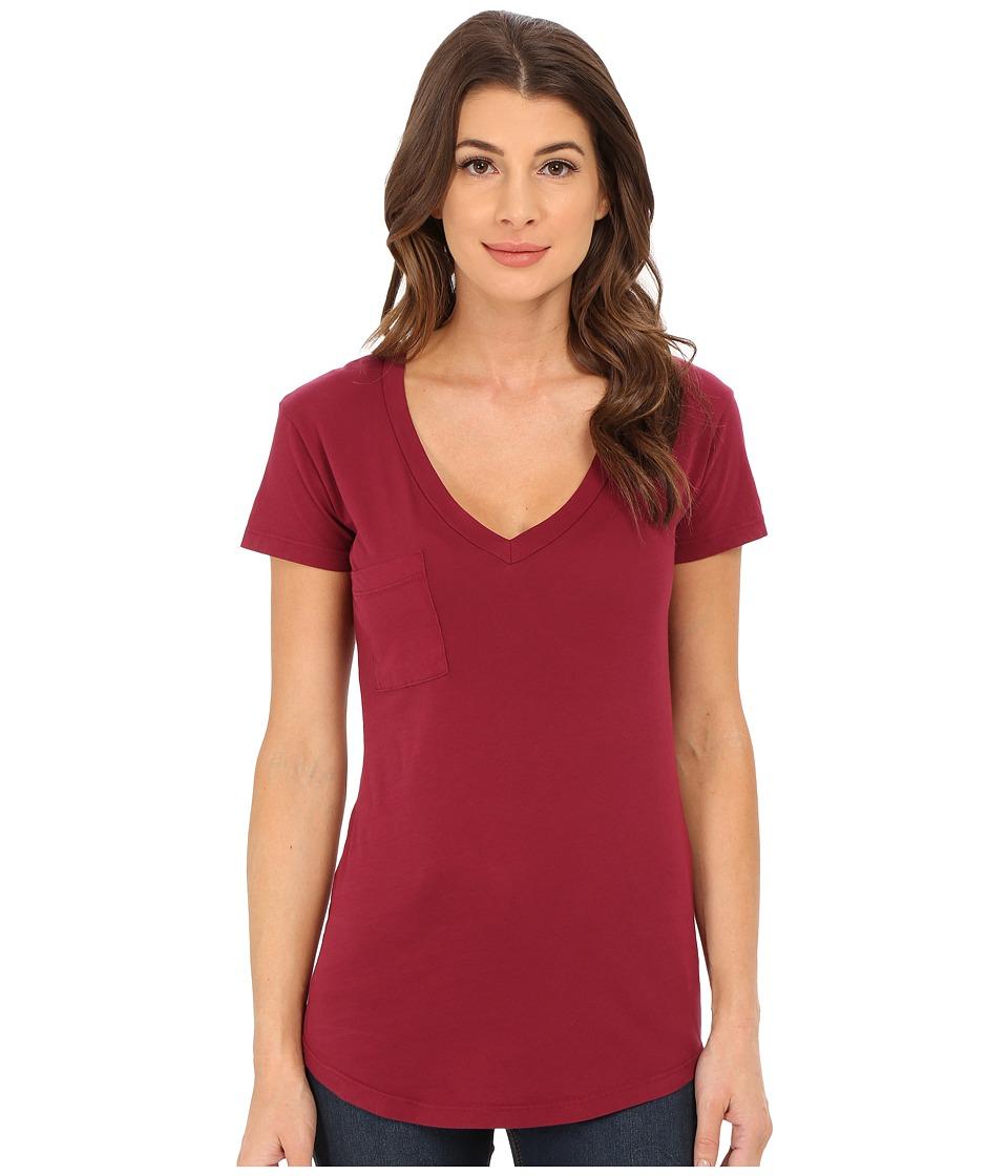 LAmade - V-Pocket Tee - Tissue Jersey (Grenache) Women's Short Sleeve Pullover