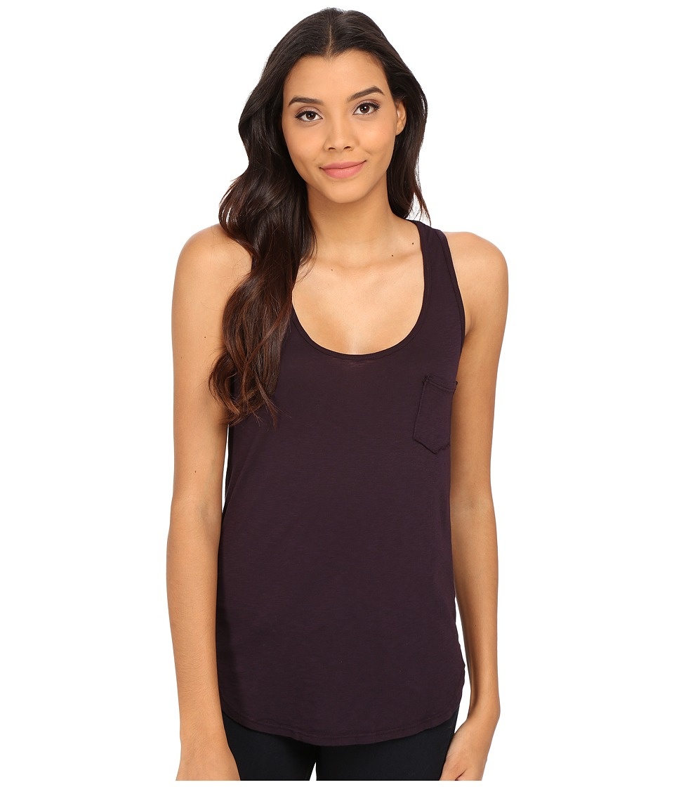 LAmade - Boyfriend Tank w/ Pocket (Deep Purple) Women's Sleeveless