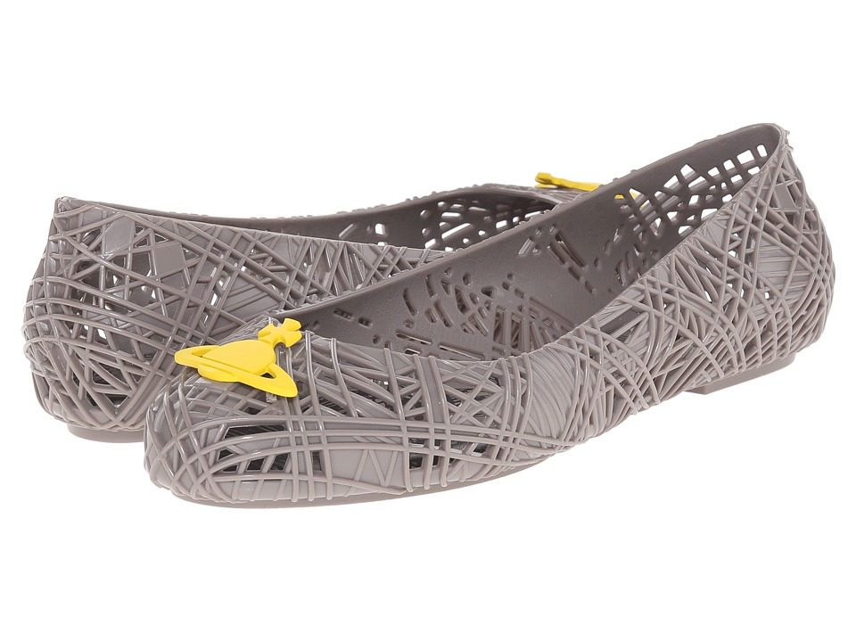 Vivienne Westwood - Anglomania + Melissa Scribble Tartan (Grey/Yellow) Women's Shoes