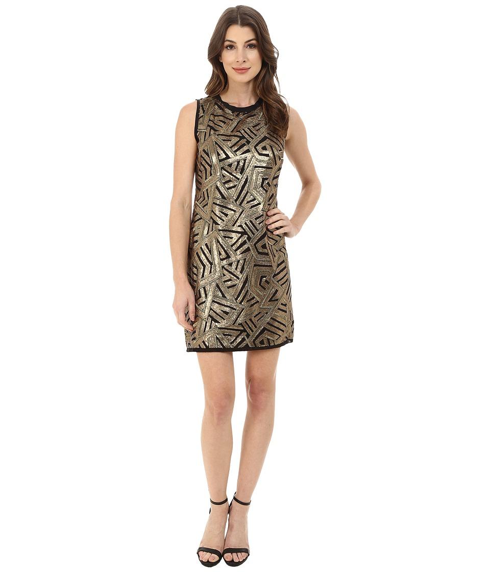 Vince Camuto - Sleeveless Micro Sequin Sheath Dress (Gold) Women's Dress