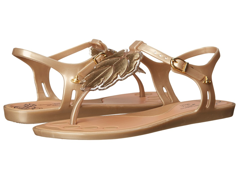 Vivienne Westwood - Anglomania + Melissa Solar Sandal (Gold/Glitter) Women's Sandals