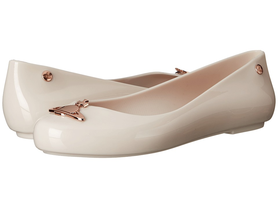 Vivienne Westwood - Anglomania + Melissa Space Love (White/Rose Gold) Women's Shoes