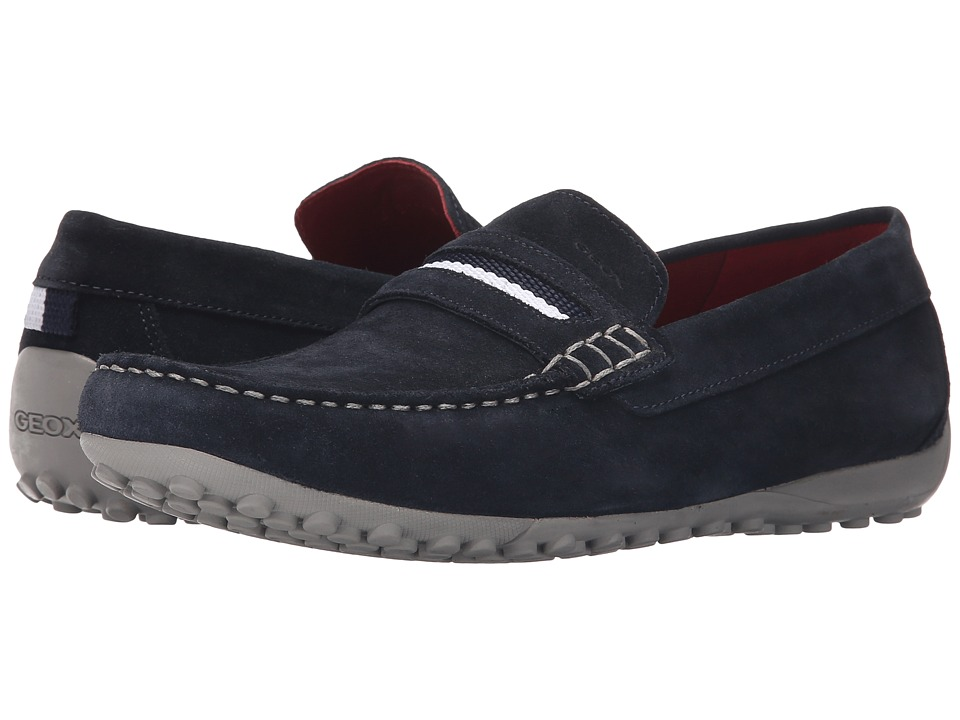 Geox - Uomo Snake Mocassino 11 (Navy 1) Men's Slip on Shoes
