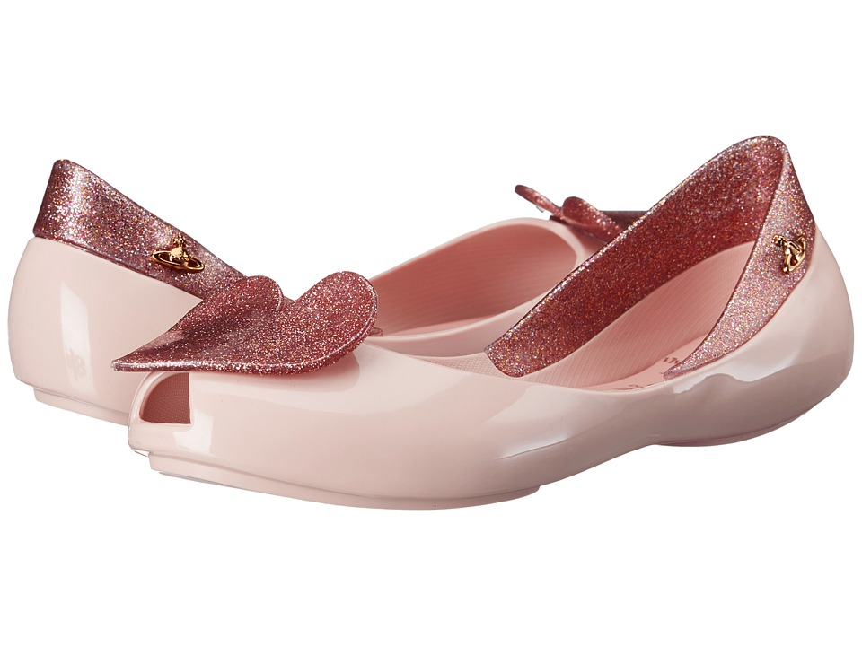 Vivienne Westwood - Anglomania + Melissa Queen (Little Kid/Big Kid) (Pale Pink/Pink Glitter) Women's Shoes