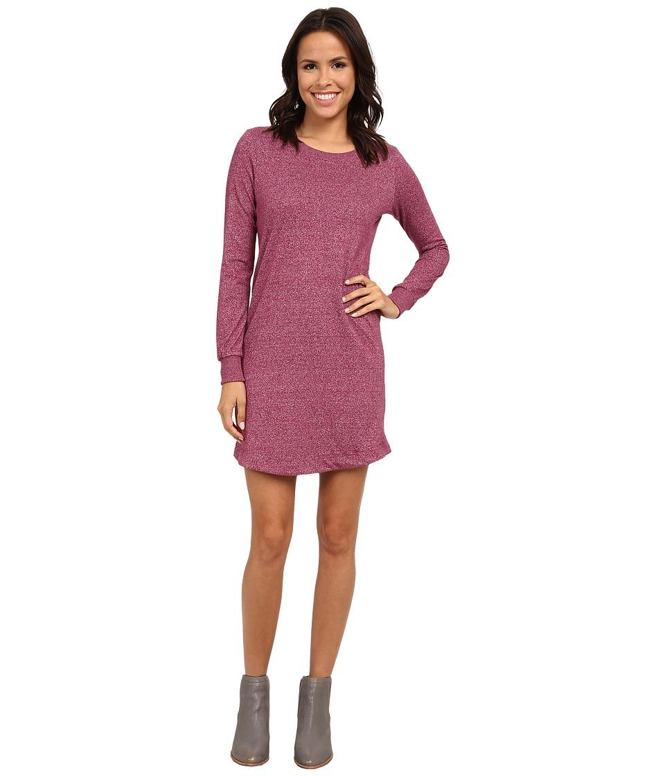 Alternative - Mock Twist Jersey Extended Stay Dress (Eco Mock Raspberry) Women's Dress