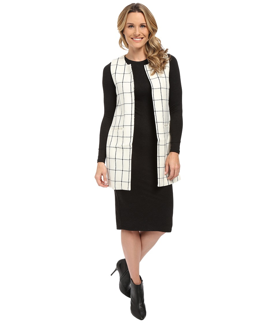 Sanctuary - Essential City Vest (Windowpane) Women's Vest
