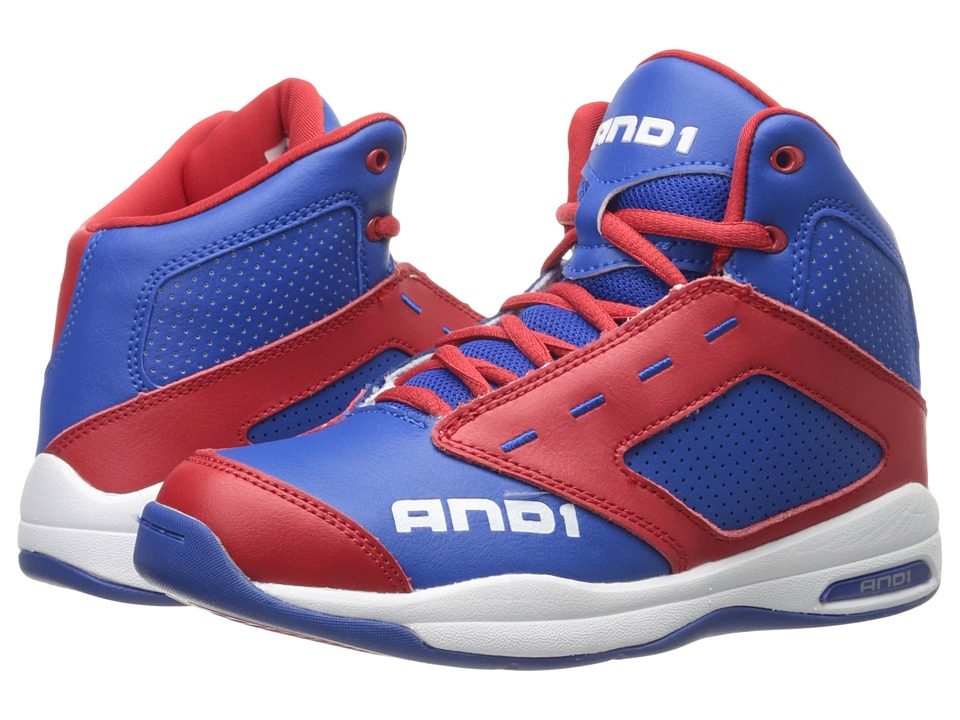 AND1 Kids - Typhoon (Little Kid/Big Kid) (Royal/Red/Bright White) Boys Shoes