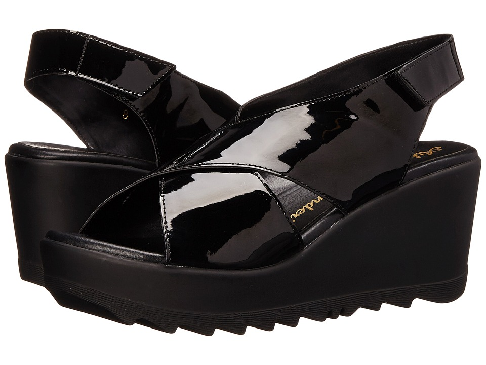 Athena Alexander - Torri (Black Patent) Women's Wedge Shoes