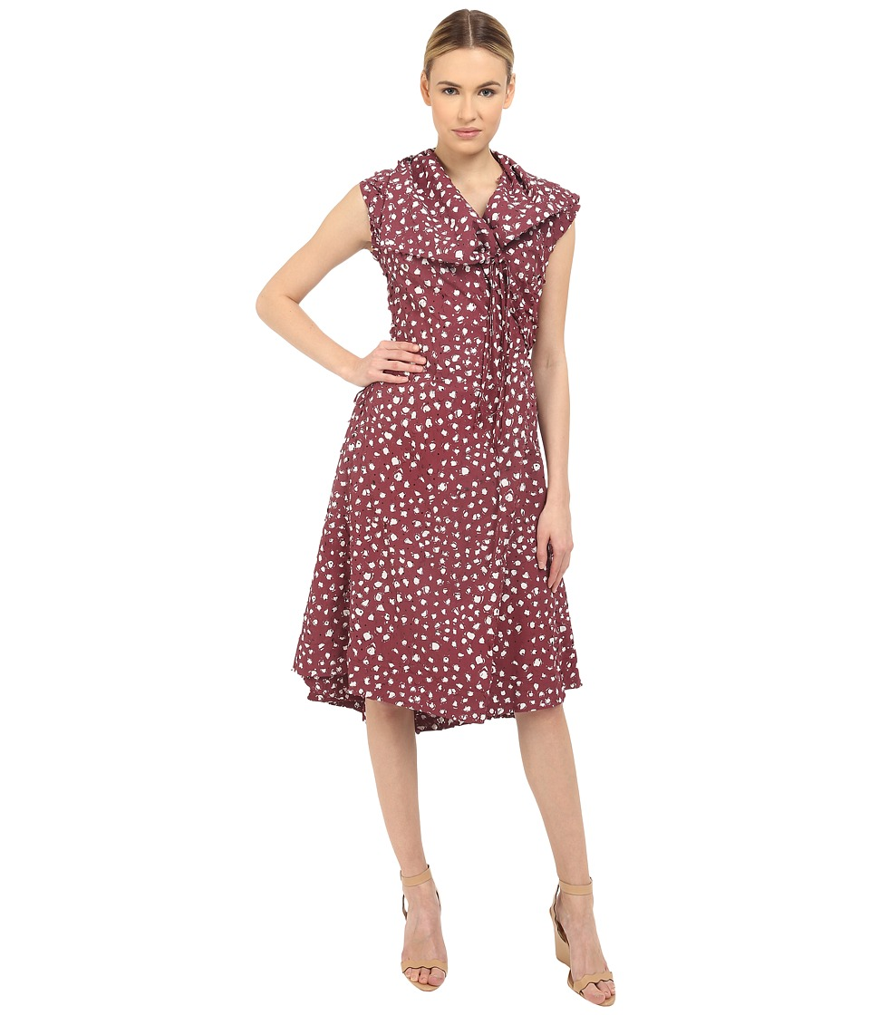 Vivienne Westwood Homemade Wash Cross Tie Wrap Dress (Burgundy) Women