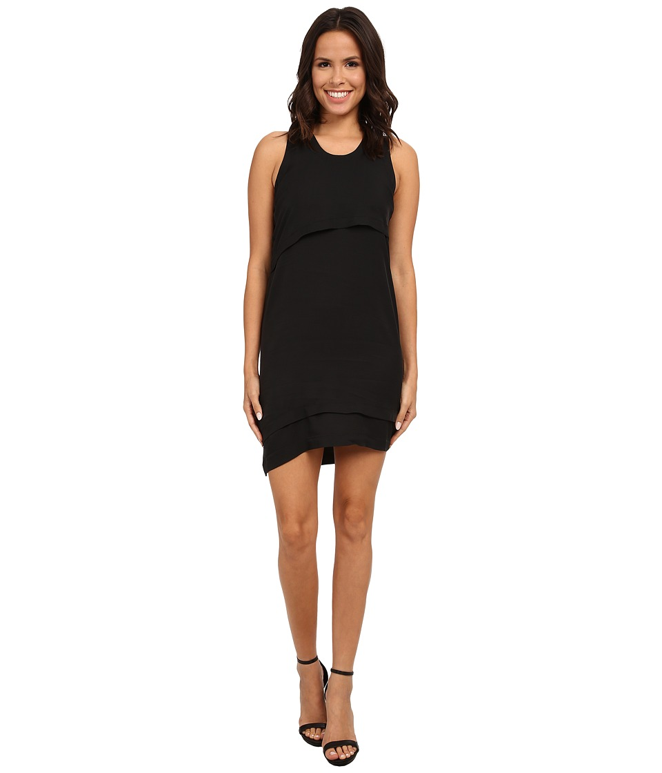 Alternative - Cupro Blend Hideout Dress (Black) Women's Dress