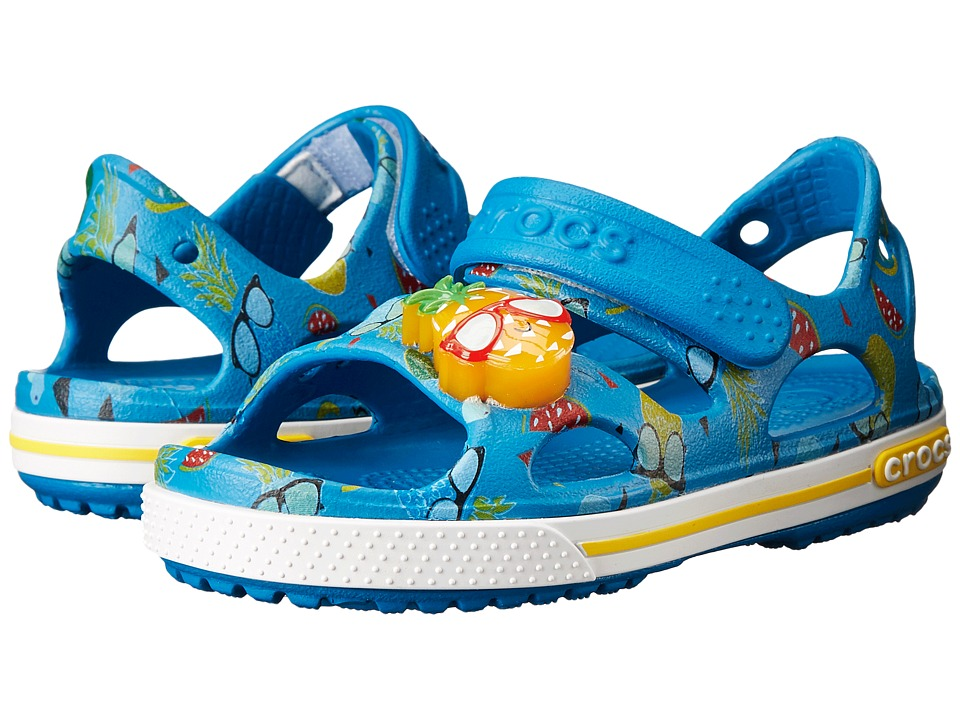Crocs Kids - Crocband II Pineapple LED Sandal (Toddler/Little Kid) (Ultramarine) Kids Shoes