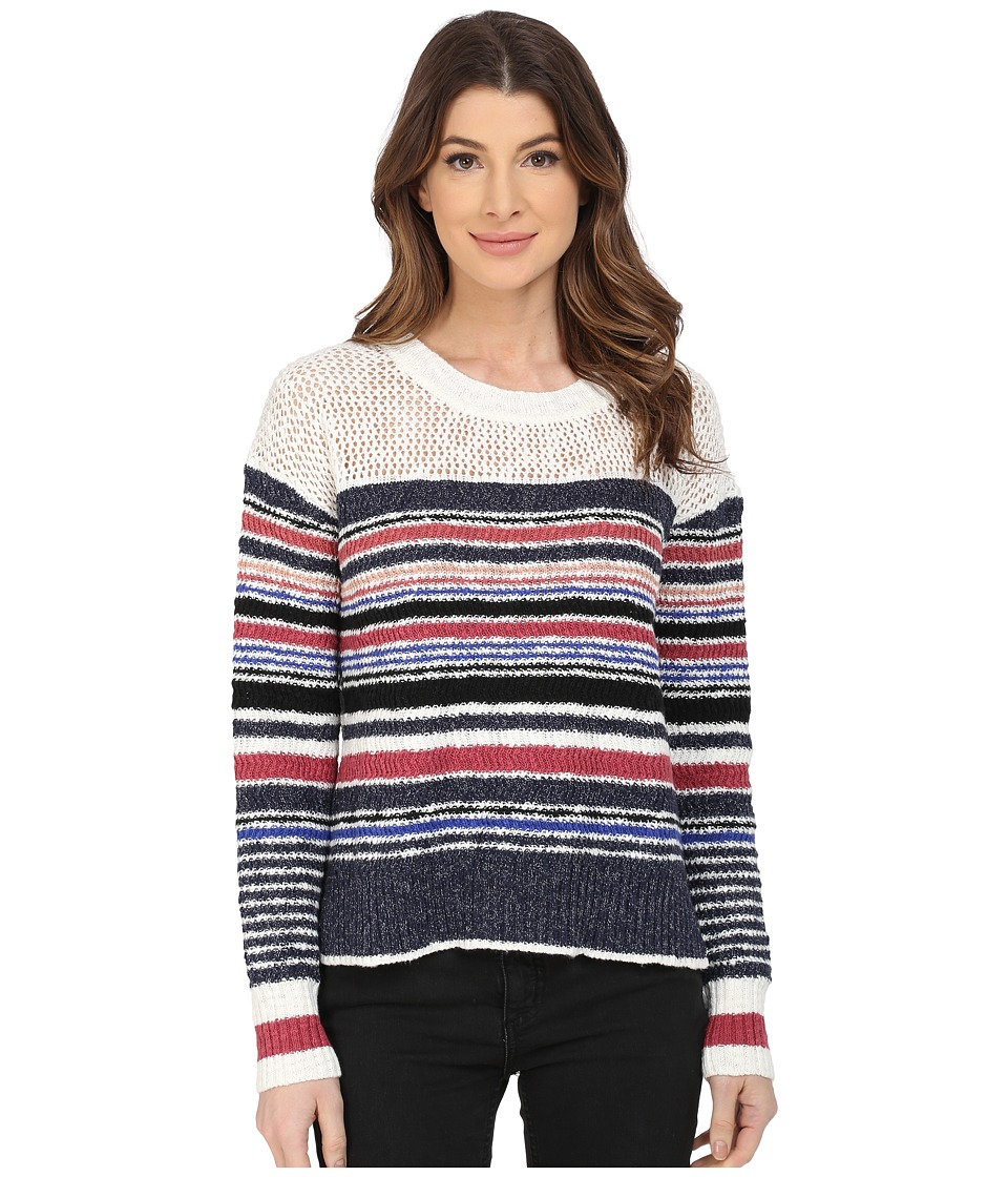 Sanctuary - Racer Sweater (Milk/Sea Blue/Marsala Multi) Women's Sweater