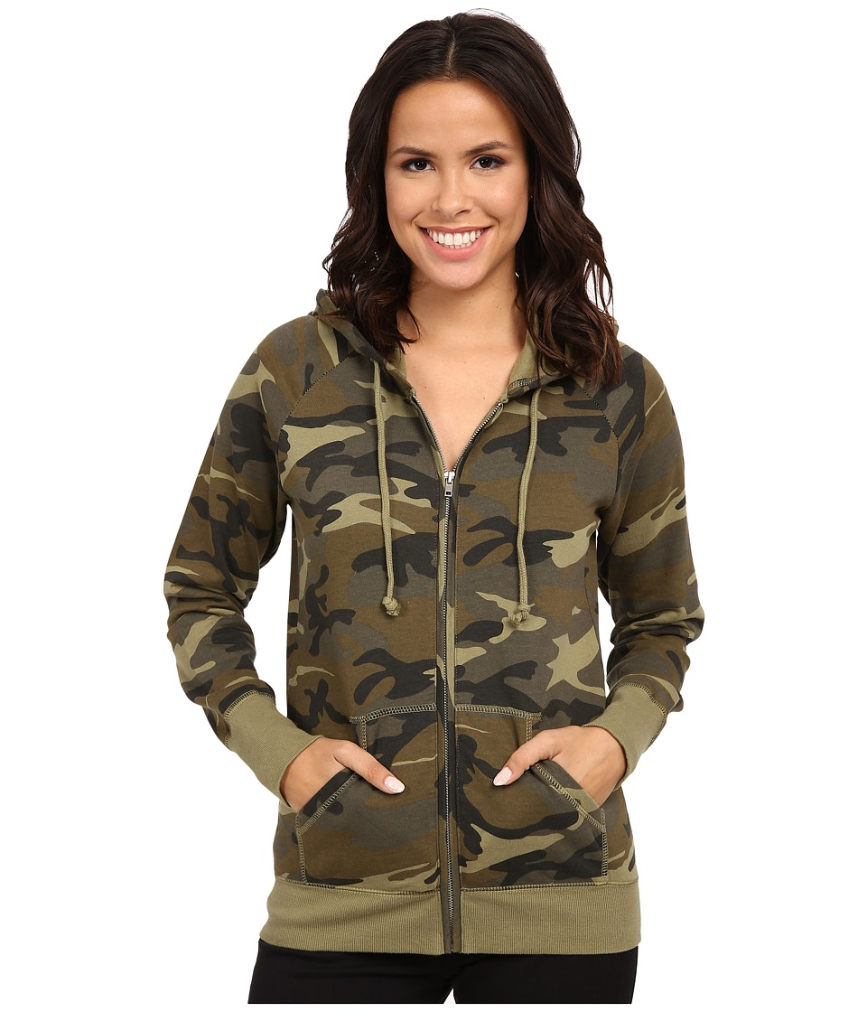 Alternative - Essential Zip Hoodie (Camo) Women's Sweatshirt