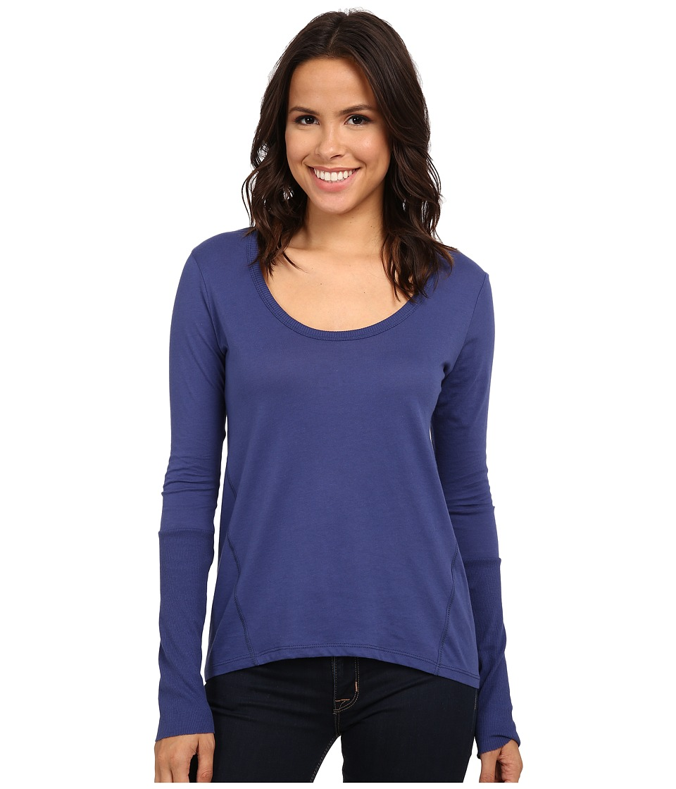 Alternative - Scoop Neck T-Shirt Long Sleeve (Navy) Women's T Shirt