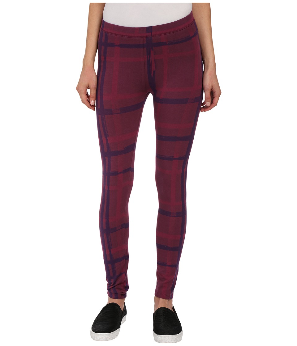 Alternative - Printed Skinny Legging (Raspberry Brush Plaid) Women's Casual Pants