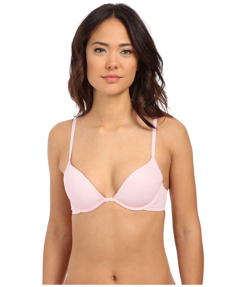 DKNY Intimates - Signature Plunge PU DK1023 (Sugar Pink Scribble) Women's Bra