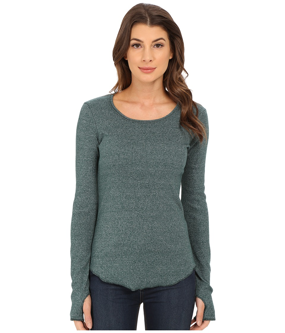 Alternative - Mock Twist Rib Overstay Top (Eco Mock Forest) Women's Sweater