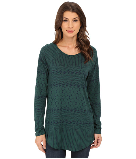 Alternative - Cotton Modal Weekend Top (Forest Deco Fairisle) Women's Clothing
