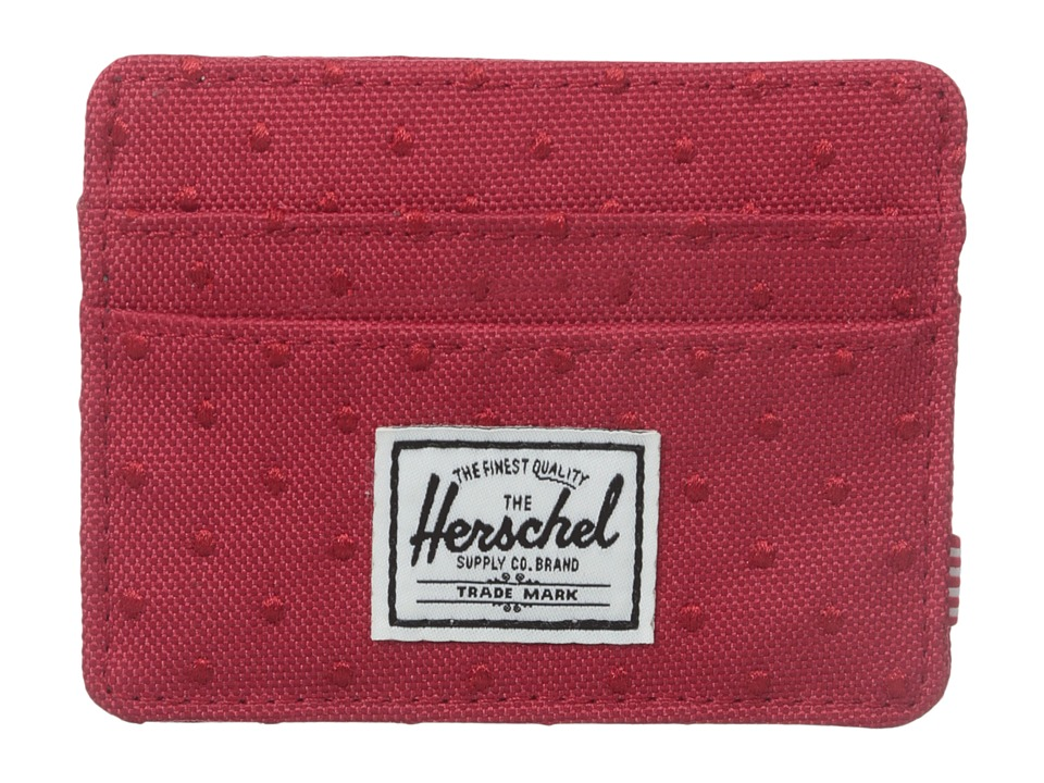 Herschel Supply Co. - Charlie (Red Embroidery Polka Dot) Credit card Wallet