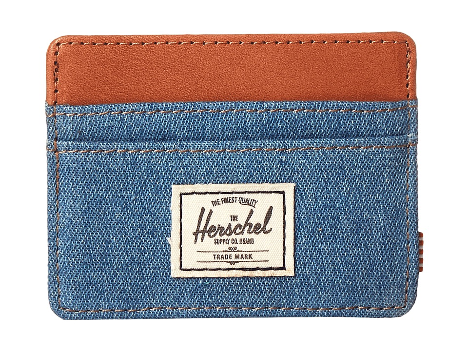 Herschel Supply Co. - Charlie (Denim/Leather) Credit card Wallet