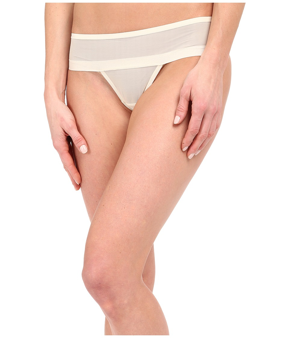 DKNY Intimates - Mesh Thong DK2000 (Parchment) Women's Underwear