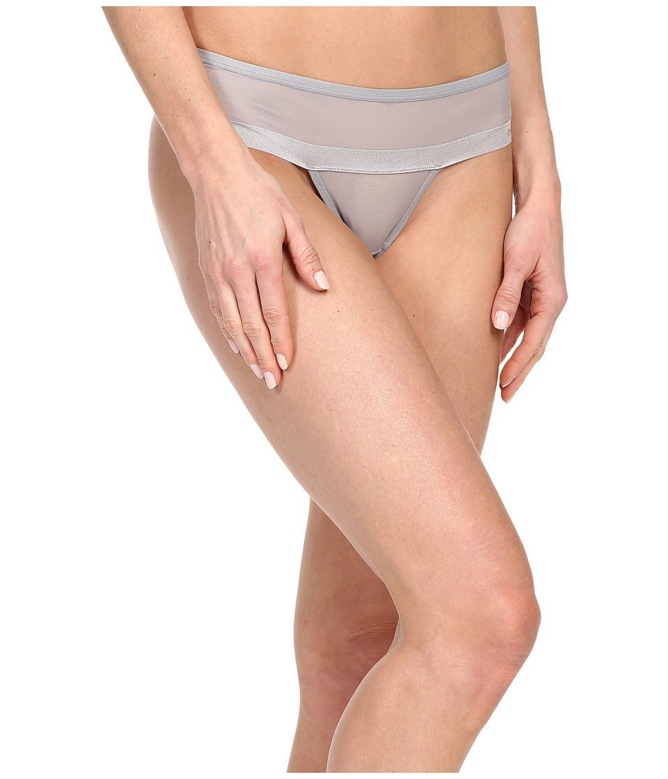 DKNY Intimates - Mesh Thong DK2000 (Mid Grey) Women's Underwear