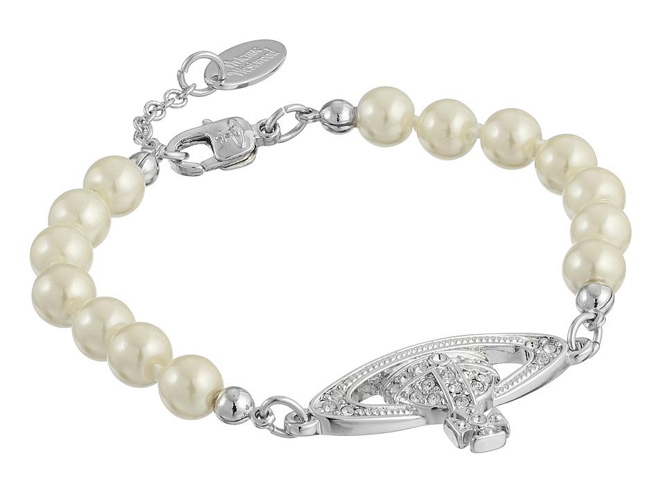 Vivienne Westwood - Mini Bas Relief Bracelet (Silver/Crystal) Bracelet