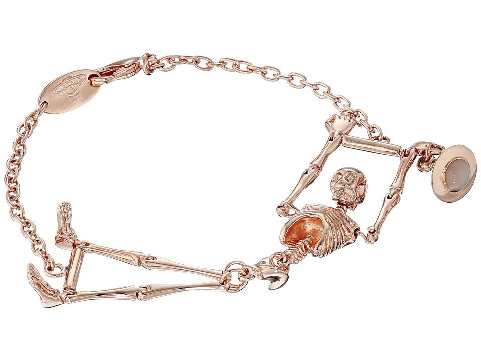 Vivienne Westwood - Skeleton Bracelet (Pink Gold/Ivory) Bracelet