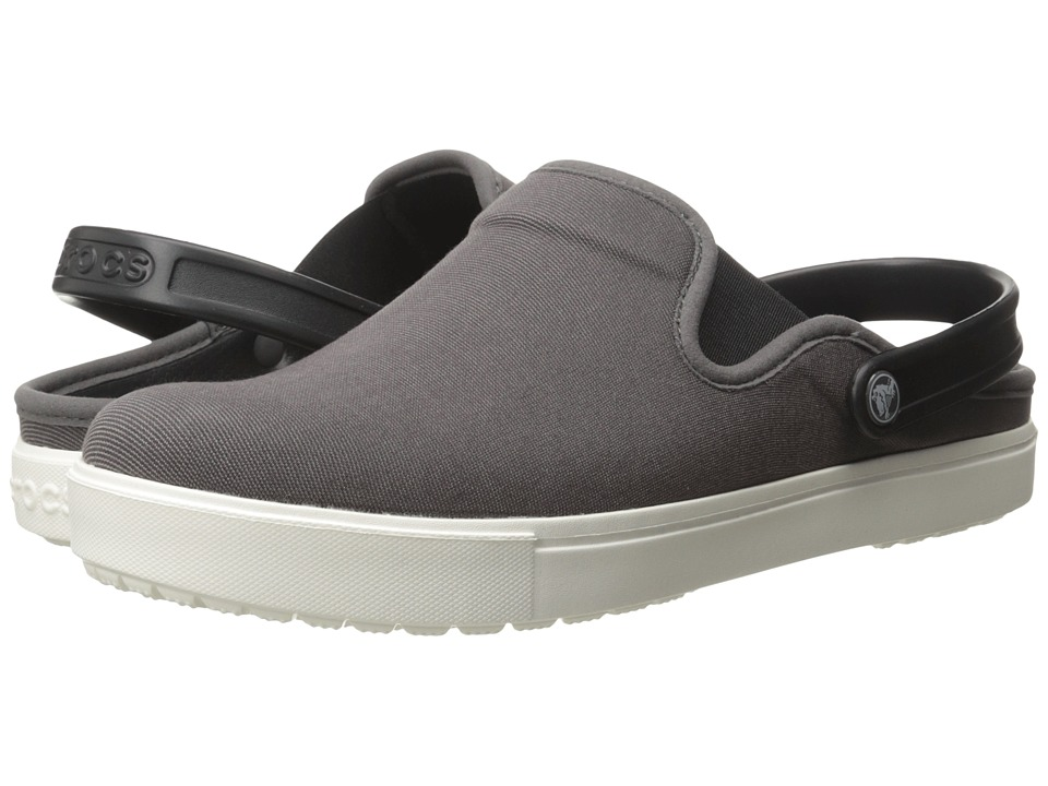 Crocs - CitiLane Canvas Clog (Graphite/White) Clog Shoes