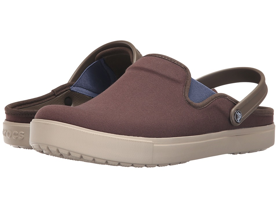 Crocs - CitiLane Canvas Clog (Espresso/Cobble Stone) Clog Shoes