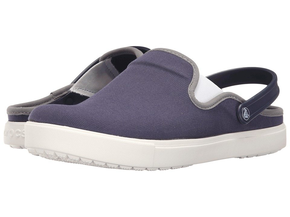 Crocs - CitiLane Canvas Clog (Navy/White) Clog Shoes