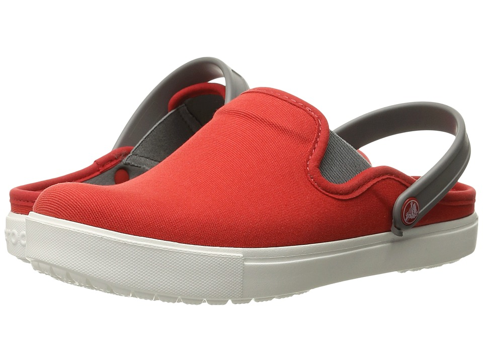 Crocs - CitiLane Canvas Clog (Flame/White) Clog Shoes