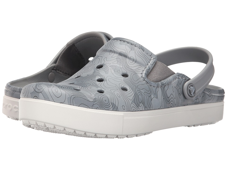 Crocs - CitiLane Tropographical Clog (Light Grey/White) Clog Shoes