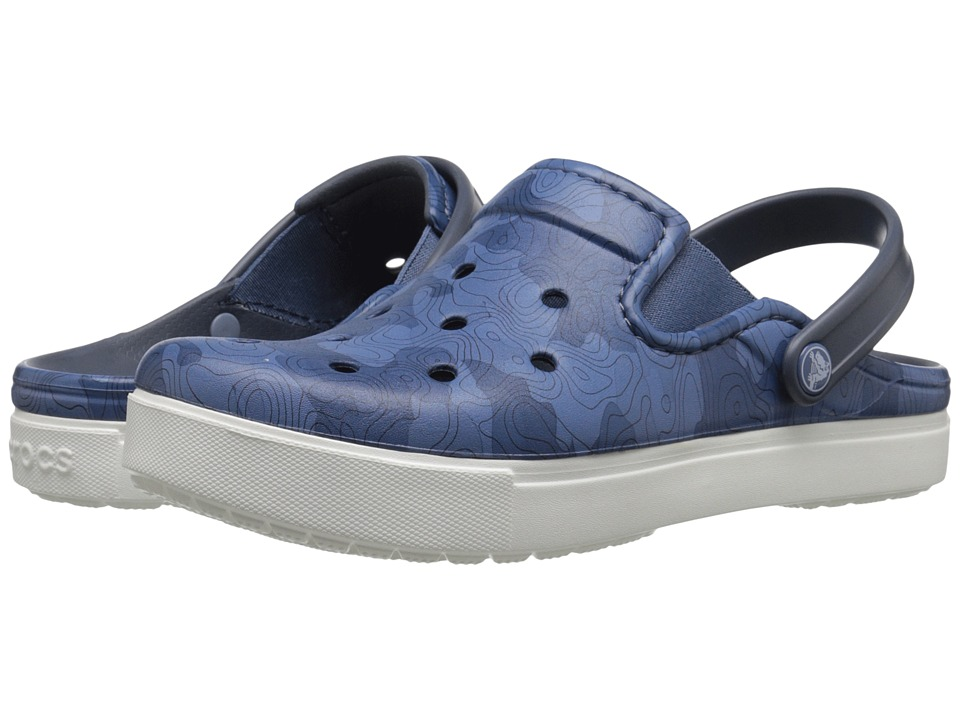 Crocs - CitiLane Tropographical Clog (Blue/White) Clog Shoes