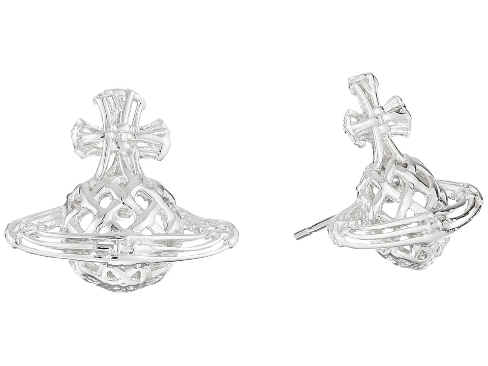 Vivienne Westwood - Cilla Bas Relief Earrings (Rhodium) Earring