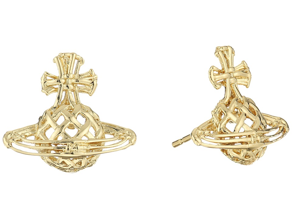 Vivienne Westwood - Cilla Bas Relief Earrings (Yellow/Gold) Earring