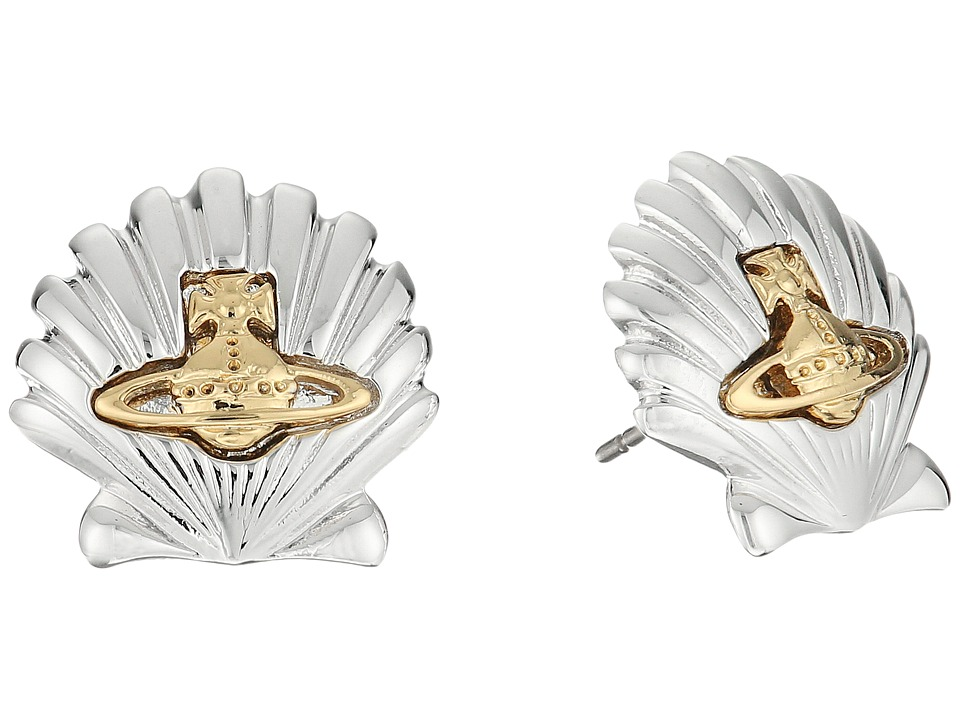 Vivienne Westwood - Shell Earrings (Rhodium/Gold) Earring