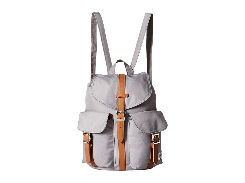 Herschel Supply Co. - Dawson (Grey/Tan Synthetic Leather) Backpack Bags