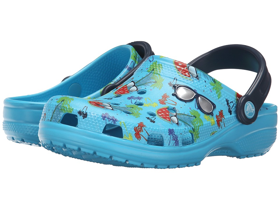 Crocs - Classic Summer Fun Clog (Electric Blue) Clog Shoes