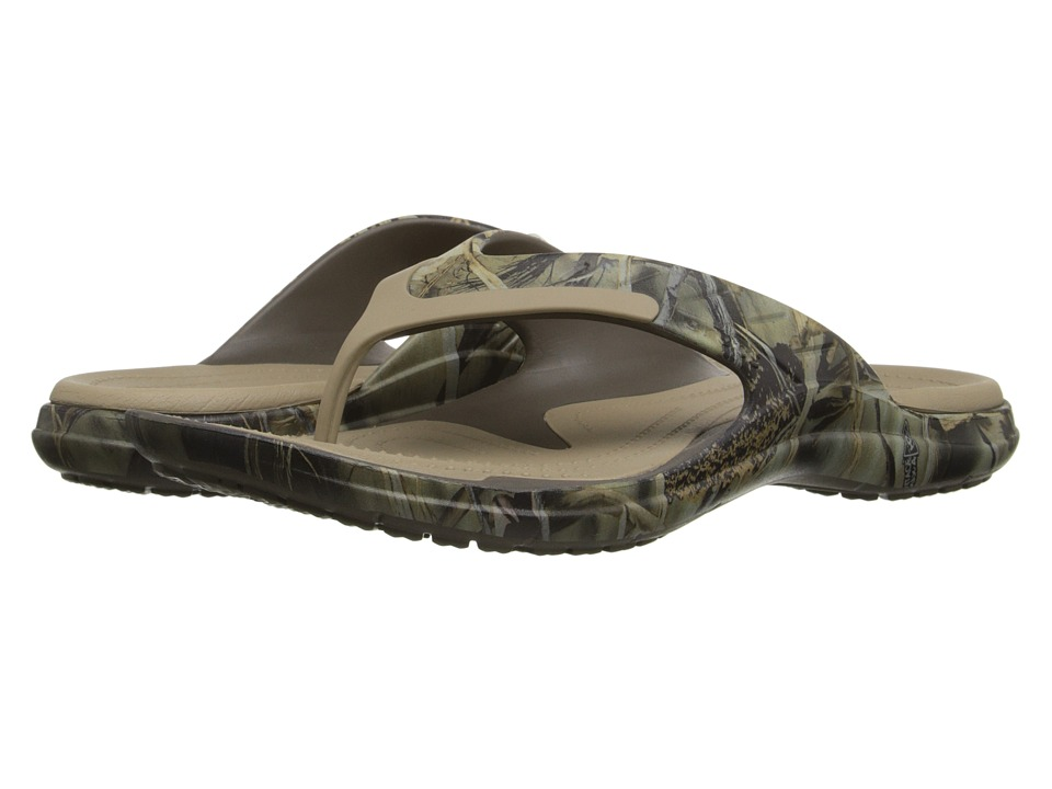 Crocs - Modi Sport Realtree Max-4 Flip (Chocolate/Khaki) Slide Shoes