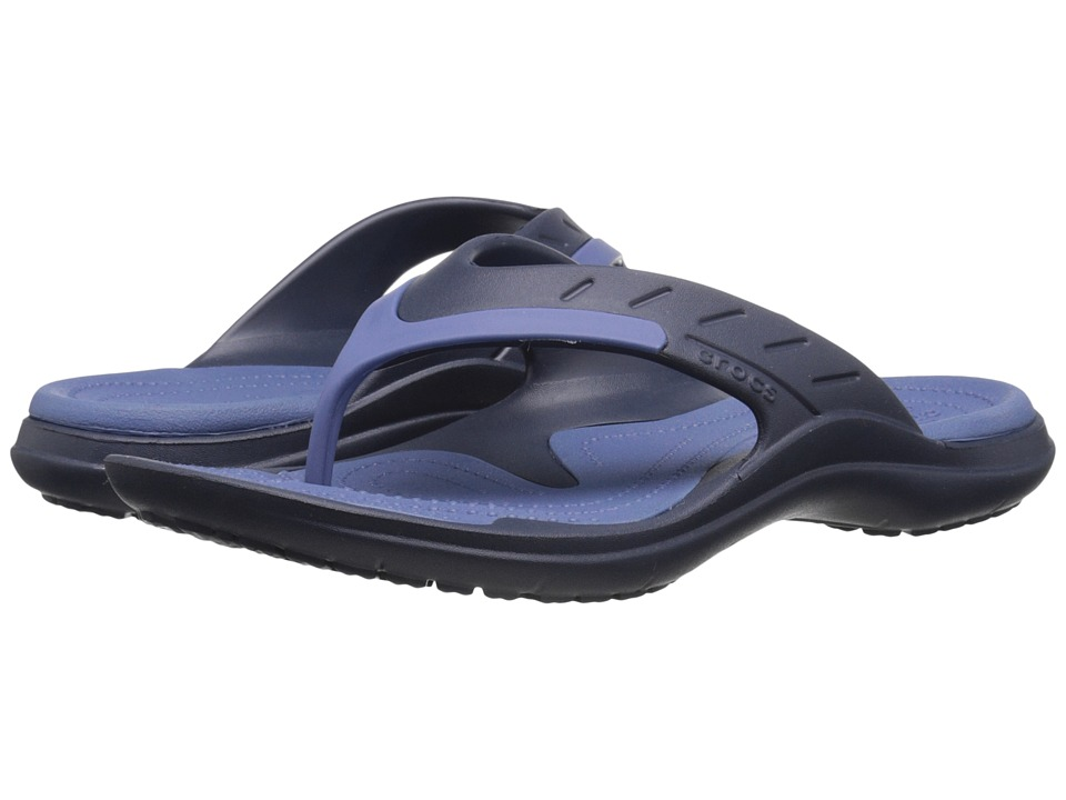 Crocs - Modi Sport Flip (Navy/Bijou Blue) Slide Shoes