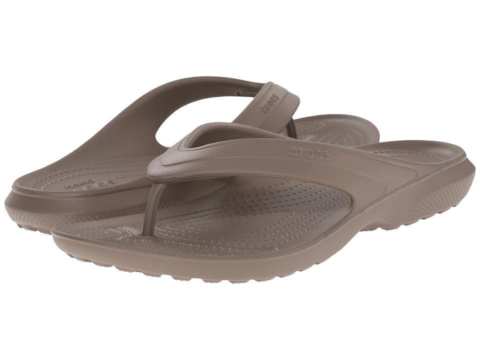 Crocs - Classic Flip (Walnut) Slide Shoes