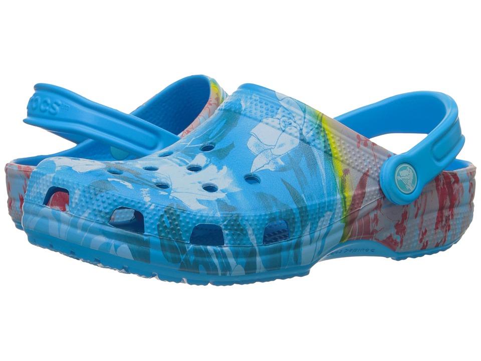 Crocs Classic Tropical II Clog (Ocean) Clog Shoes