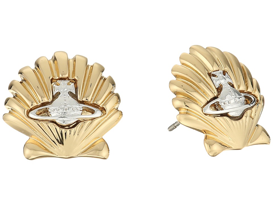 Vivienne Westwood - Shell Earrings (Gold/Rhodium) Earring